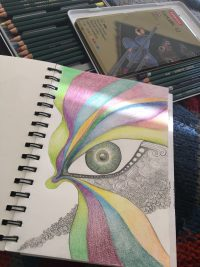 Eye sketch by Amanda Maresch