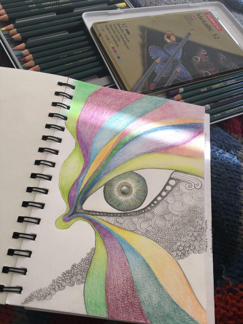 Eye sketch by Amanda Maresch